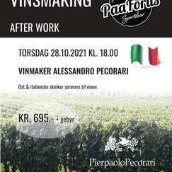 Vinsmaking med Alessandro Pecorari - Afterwork