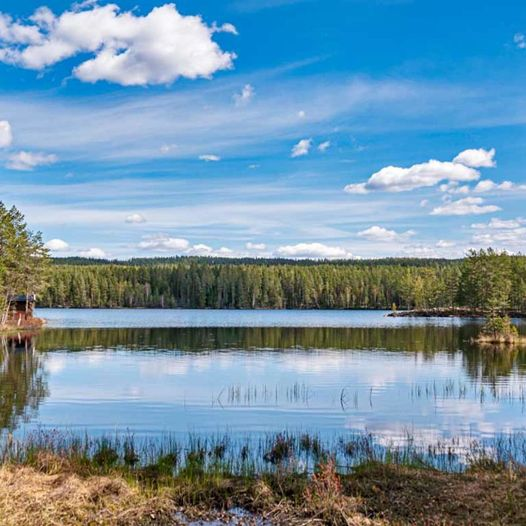 Finholtsjøen rundt fra Haga skytebane