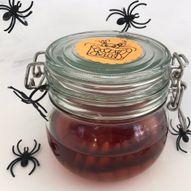 Ekle tenner på glass - hjemmelaget pynt til halloween