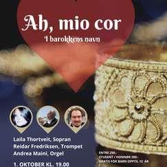 Ah, mio cor - I barokkens navn // Laila Thortveit, Reidar Fredriksen og Andrea Maini