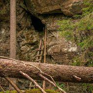 Skogstur fra Stampetjernet til Røverhula, Farshatten og Kopperudlia opp til Bjørnholen