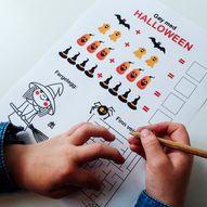 Last ned aktivitetsark med halloween-tema, helt gratis!