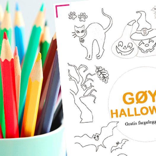 Gøy med halloween - last ned gratis fargeleggingsark