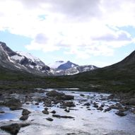 Stien mellom Reindalseter og Vakkerstøylen