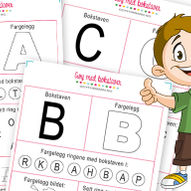Gøy med bokstaver - 29 gratis aktivitetsark med hele alfabetet