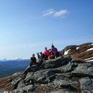 Blåbergenden 752 moh. Blåberget 1218 moh.
