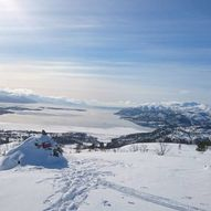 Sagatun/lysløypa - Vardnesfjellet
