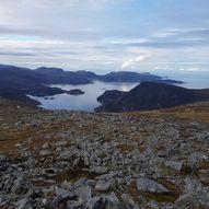 Kvamfjellet (Høgehornet) og Løypinga