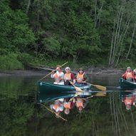 Botn med kajakk eller kano