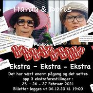 """Harda & Doris Show""""fra antibac te tequila & fyrstekake"""" Ekstra forestillinger"""