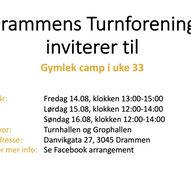 Gymlek camp hos Drammens Turnforening i uke 33