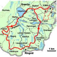 Stor runde i de sørlige hei- og myrområdene - 22 km