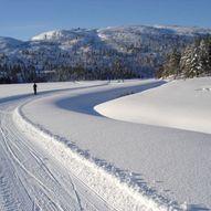 Skitur rundt husmorløypa på Knaben (preparert)