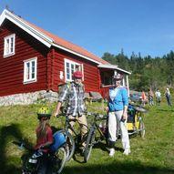 På sykkel fra Eiksetra til Svarvestolen