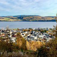 Gjøvik sentrum til Øverby og Eiktunet