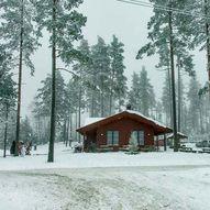 Fem kilometer skitur i Asakmarka