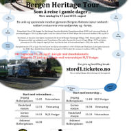 """Søndag 27. juni 2021: """"Som å reise i gamle dager.."""" - Bergen Heritage Tour. Rundtur. Start med veteranbuss."""