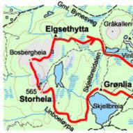 På ski over heiene om Grønlia og Elgsethytta - 17 km