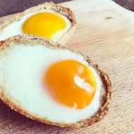 Rundstykke med egg - Enkel matpakke og turmat