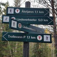 Trollsvann-Lindsverk via merkedammen