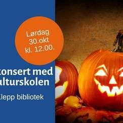 Halloweenkonsert med elever fra kulturskolen30okt