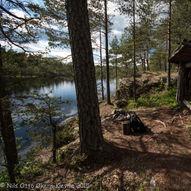 Gapahuken ved Langtjern fra Sandbekk Mølle