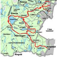 Gjennomgangstur fra Byåsen til Heimdal - om Grønlia og Rønningen 19 km