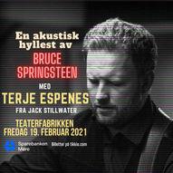 ***NY DATO***Hyllest til Bruce Springsteen  - med Terje Espenes // Fredag 21. mai