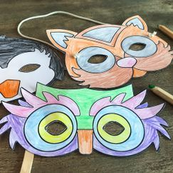 La barna lage sin egen karnevalmaske - gratis nedlastning!