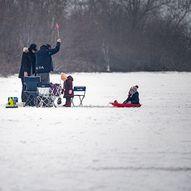 Isfiske med barna