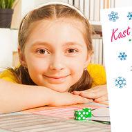Kast terningen og tegn en snømann - Morsomt tegnespill