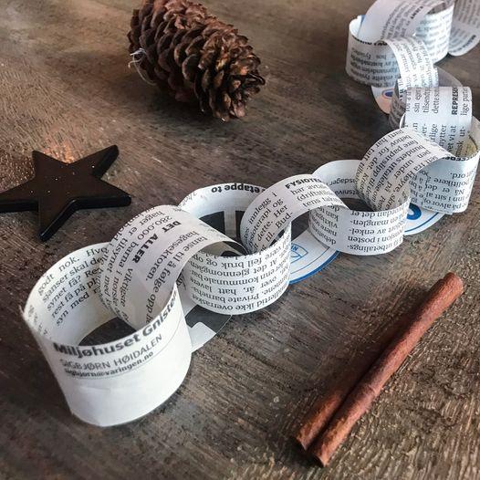 Julelenke av avispapir – enkel aktivitet på juleverkstedet