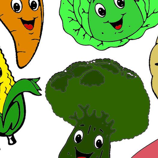 Fargelegg grønnsakene - gratis nedlastning