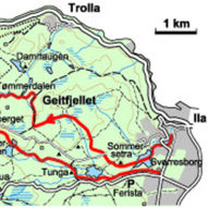 Over Geitfjellet og rundt Herbernheia - 21 km