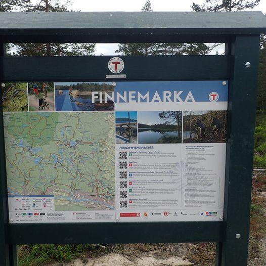 Til Goliaten turisthytte fra Damhaugen P-plass i Solbergelva