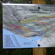 Turstier og gamle ferdselsveger på Bergsida, Vikalida, Vik og Hol