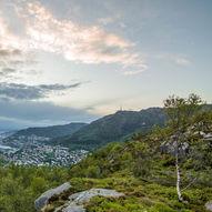 Panoramastien over Landåsfjellet - liten runde