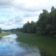 Padletur på Harasjøen i Stange