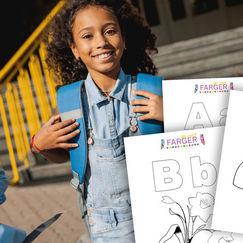 29 gratis fargeleggingsark med bokstavene i alfabetet