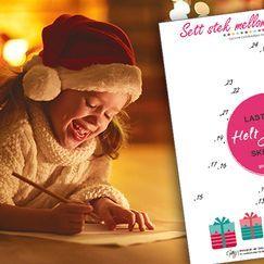 Sett strek mellom prikkene - gøy med tall - aktivitetsark til jul