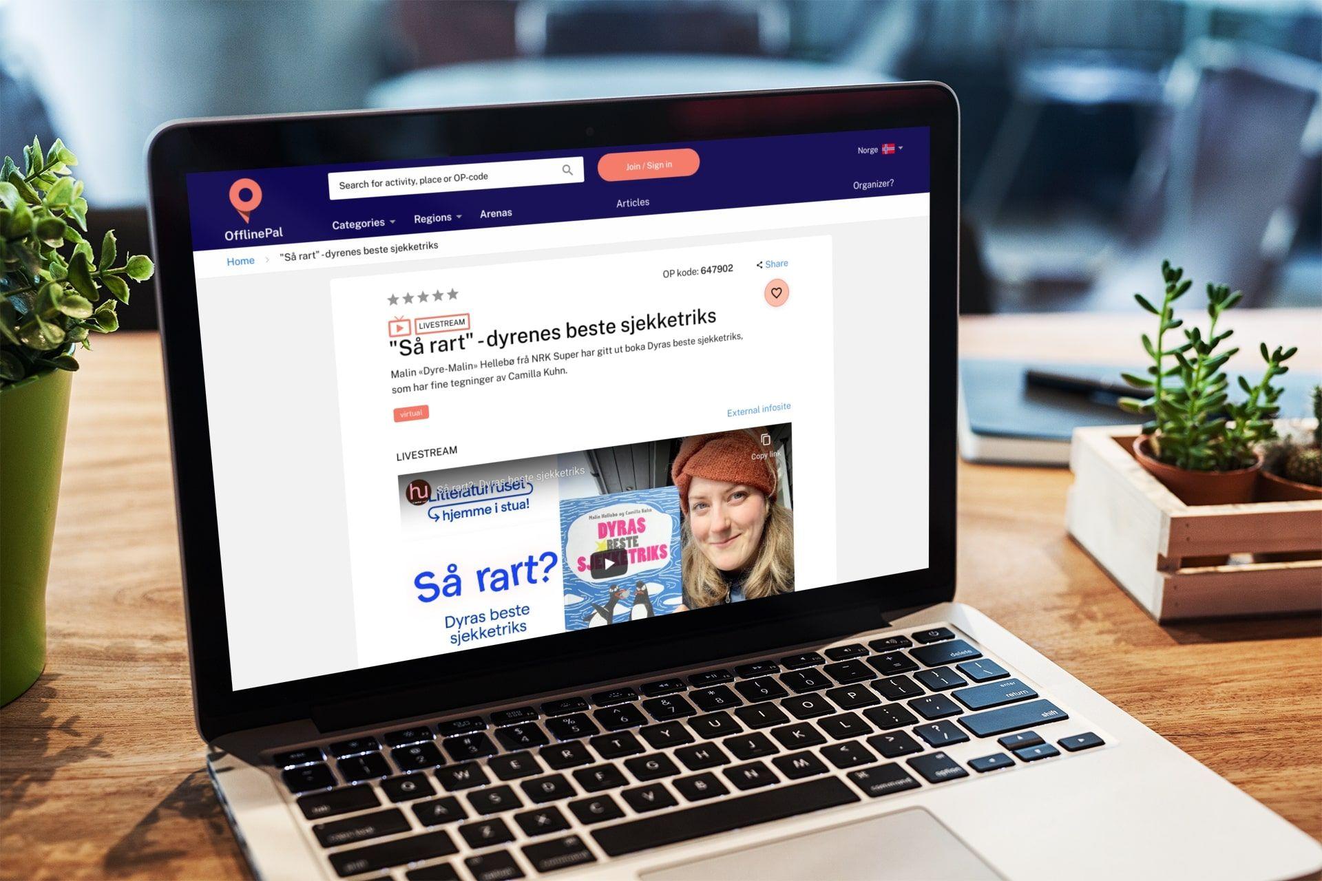 OfflinePal online streaming aktivitet
