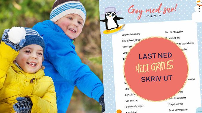 Vinteraktiviteter for barn