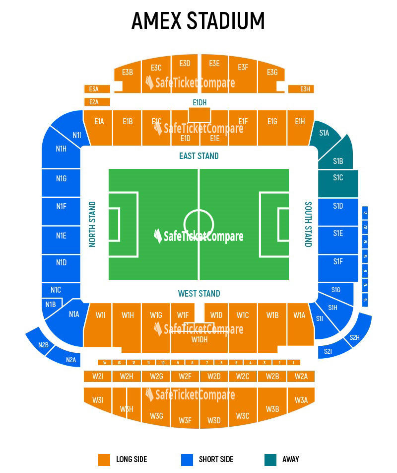 Amex Stadium Seating Map