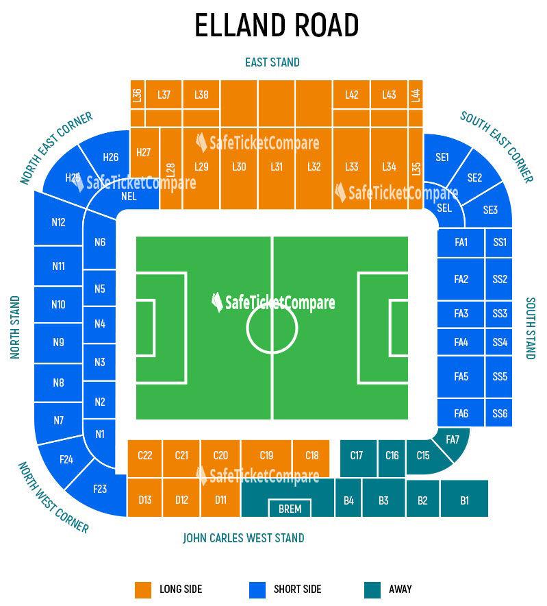 Elland Road Seating Map