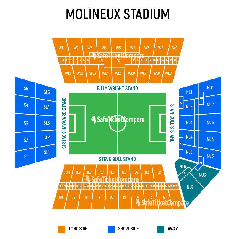 Molineux Stadium Seating Map