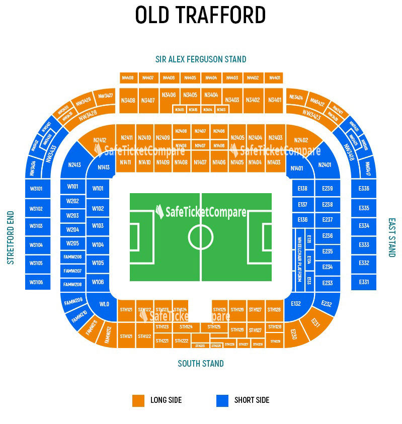 Old Trafford Seating Map