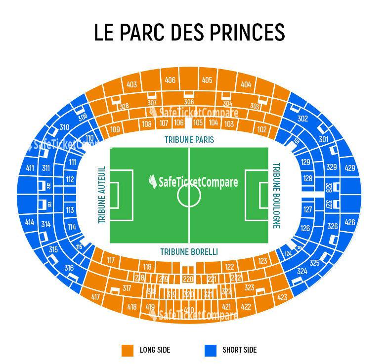 Parc Des Princes Seating Map