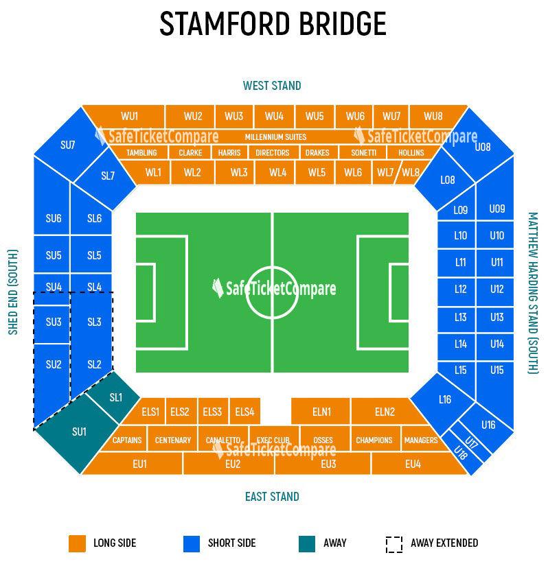 Stamford Bridge Seating Map