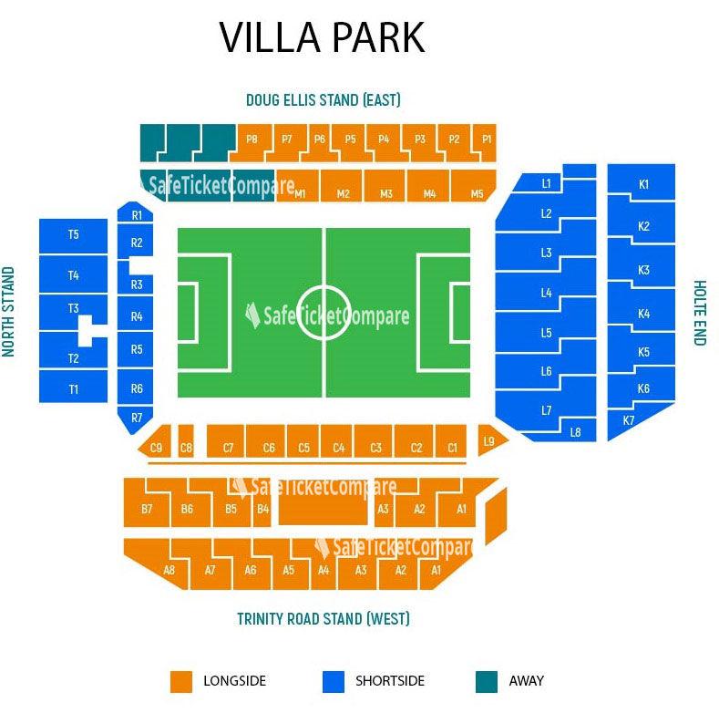 Villa Park Seating Map
