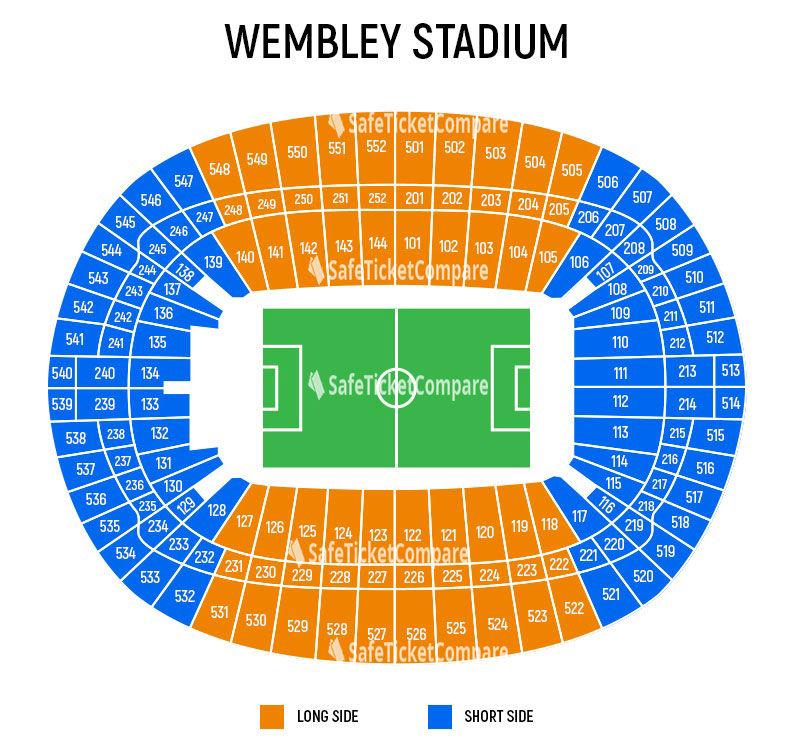 Wembley Stadium Seating Map